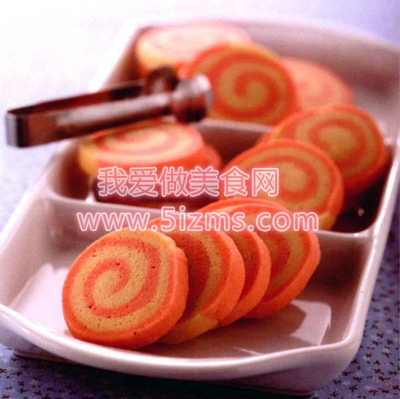 烘焙入门烘焙食谱之双卷草莓饼干
