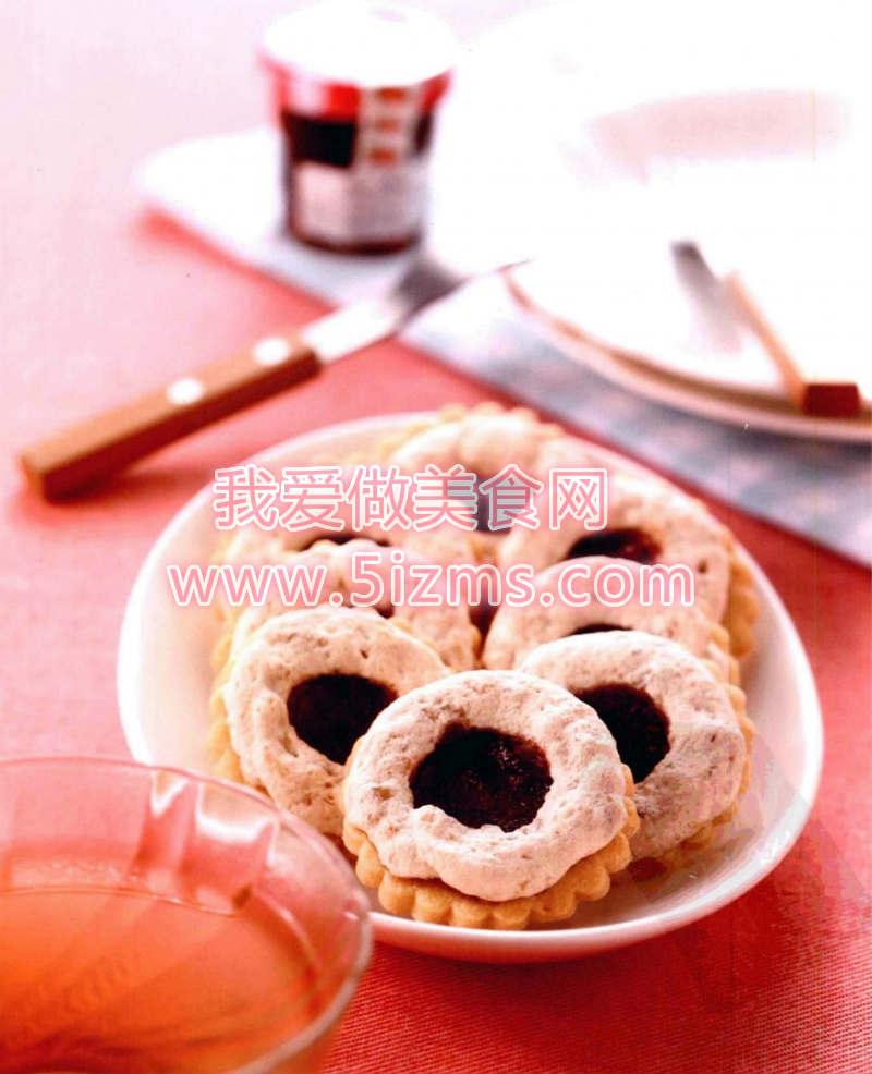 烘焙入门烘焙食谱之核桃覆盆子饼干