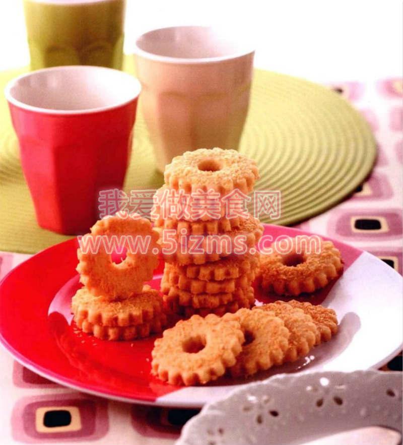 烘焙入门烘焙食谱之椰香花环小饼