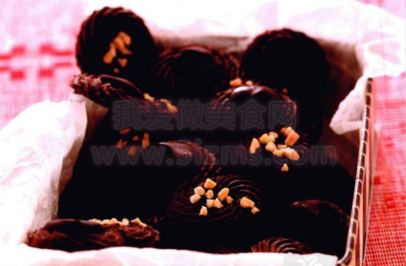 烘焙入门烘焙食谱之黑巧克力小西饼