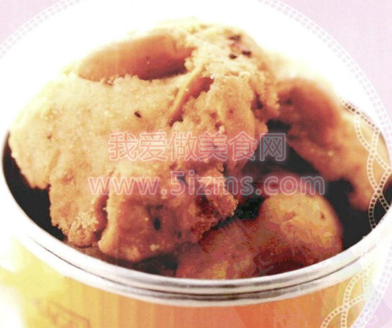 姜味小鱼花生饼