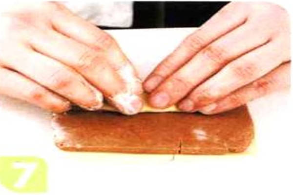 烘焙入门烘焙食谱之黑白双色饼干制作步骤7