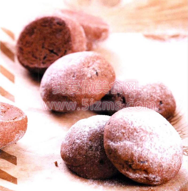 烘焙入门烘焙食谱之黑巧克力球