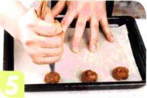 烘焙入门烘焙食谱之巧克力曲奇饼干制作步骤5