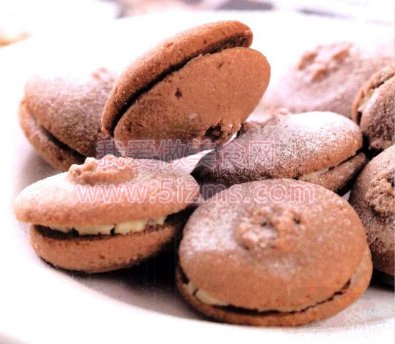 烘焙入门烘焙食谱之巧克力芝士夹心饼