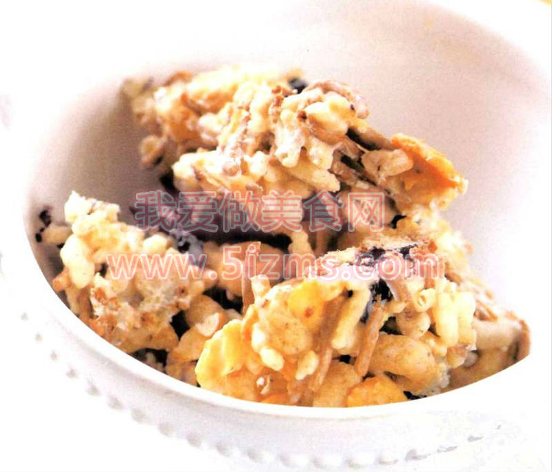 烘焙入门烘焙食谱之麦片蓝莓条