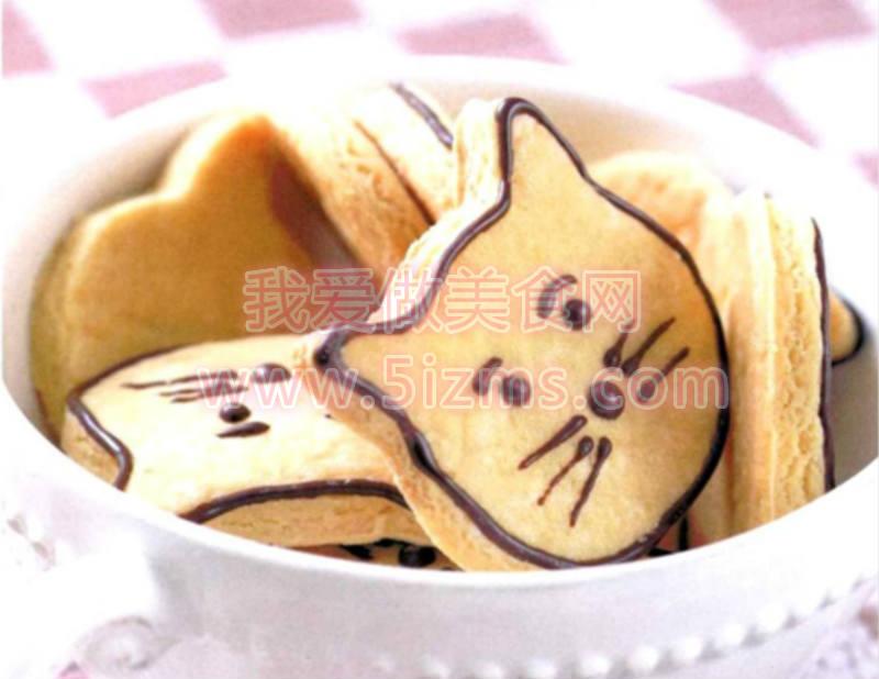 烘焙入门烘焙食谱之小猫脸饼干