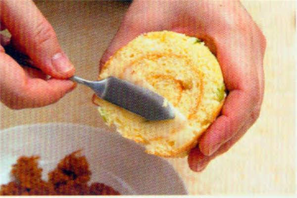 烘焙入门烘焙食谱之葱花肉松咸蛋糕卷制作步骤17
