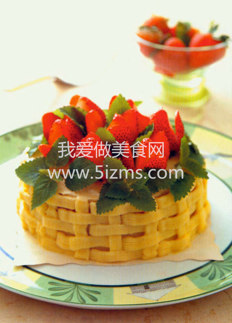 烘焙入门烘焙食谱之草莓花篮蛋糕
