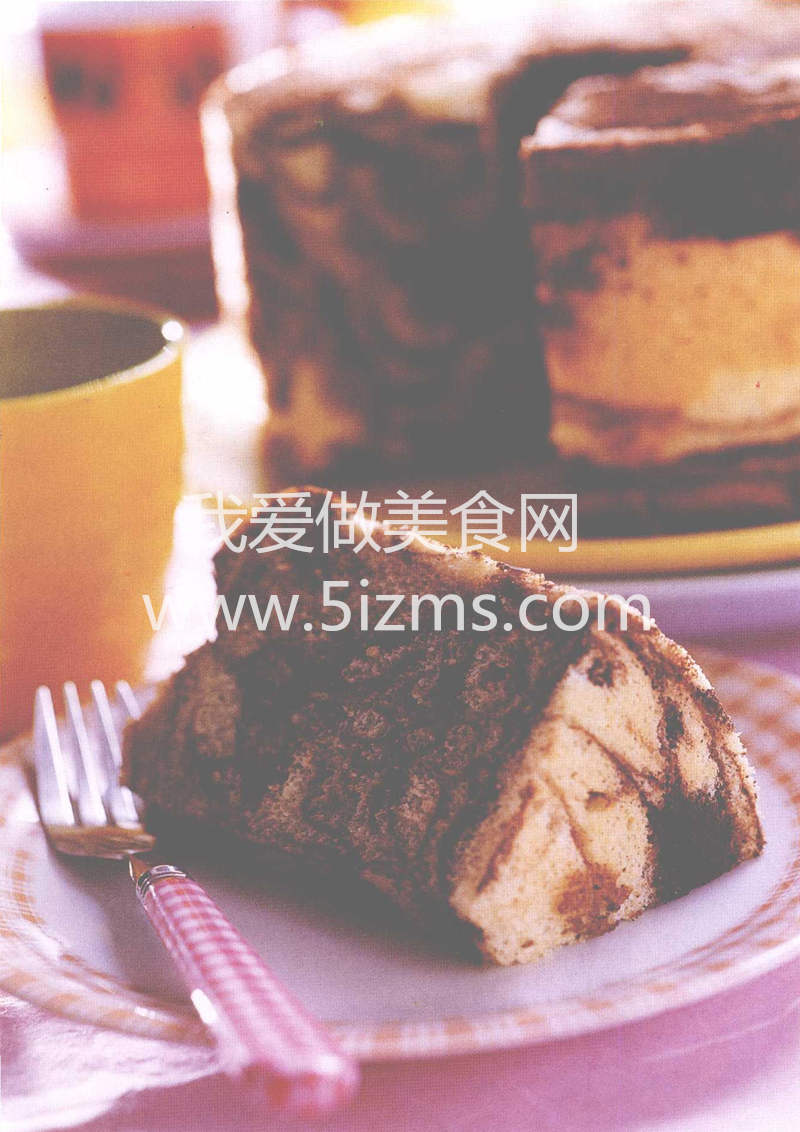烘焙入门烘焙食谱之大理石雪纺蛋糕