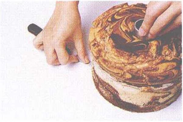 烘焙入门烘焙食谱之大理石雪纺蛋糕制作步骤10