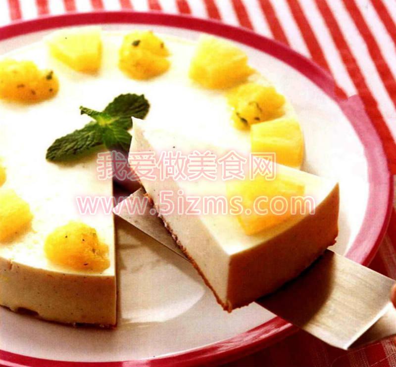 烘焙食谱之菠萝薄荷奶酷蛋糕