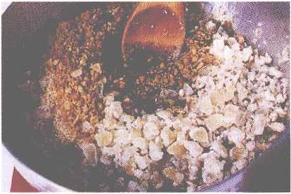 烘焙入门烘焙食谱之卤肉豆沙饼制作步骤2