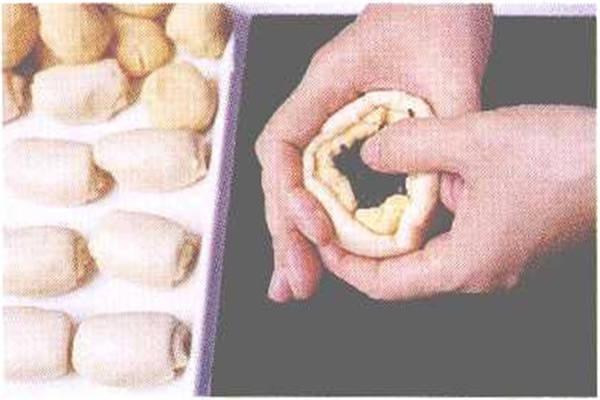 烘焙入门烘焙食谱之卤肉豆沙饼制作步骤6
