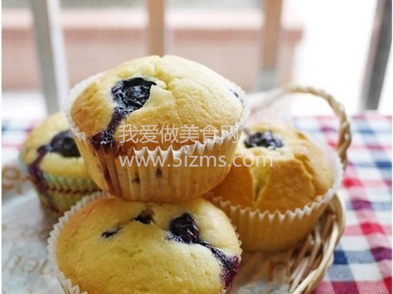 烘焙入门烘焙食谱之豆浆蓝莓玛芬蛋糕