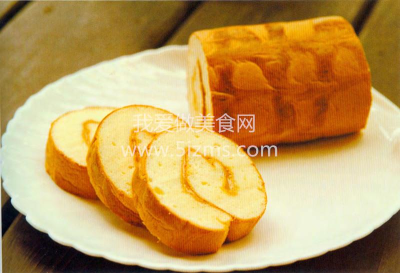 花生花纹蛋糕卷糕
