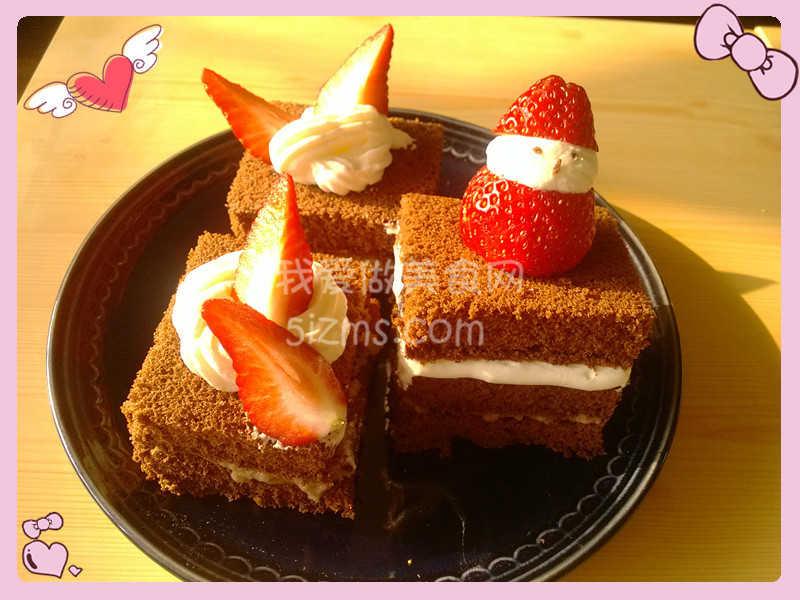 烘焙入门之自创巧克力栗子奶油蛋糕