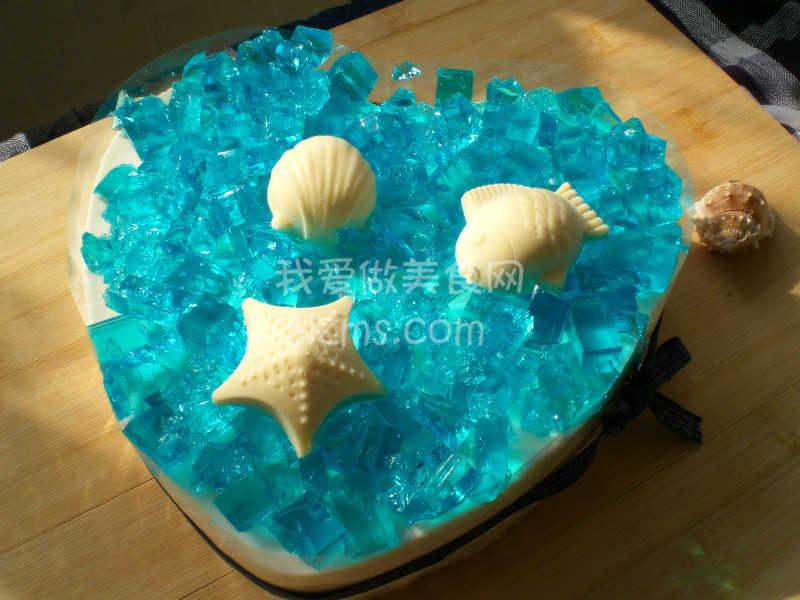 自制海洋之心蛋糕
